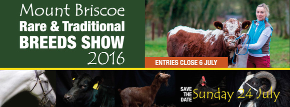 Mount Briscoe Rare & Traditional Breeds Show 2016 Banner