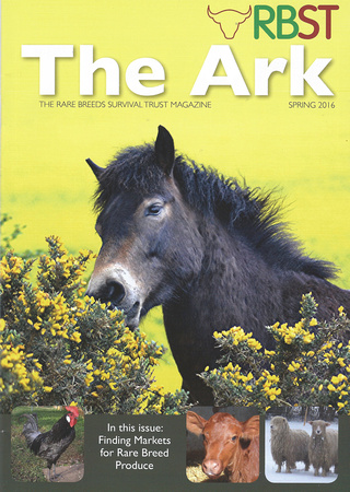 The Ark: The Rare Breeds Survival Trust Magazine, Spring 2016 Cover.